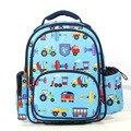 2016 moda unisex niños patrón coche de la historieta mochilas escolares para las niñas mochila para niños mochila niños mochila de gran capacidad