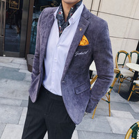 Autumn and winter new wave male Korean version of the self cultivation casual suit men's jacket British wind corduroy small suit