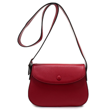 Nuleez Saddle Big Shoulder Strap Genuine Leather Bag Candy Summer Bag Wine Red Women Crossbody Messenger Shoulder Handbags 12101