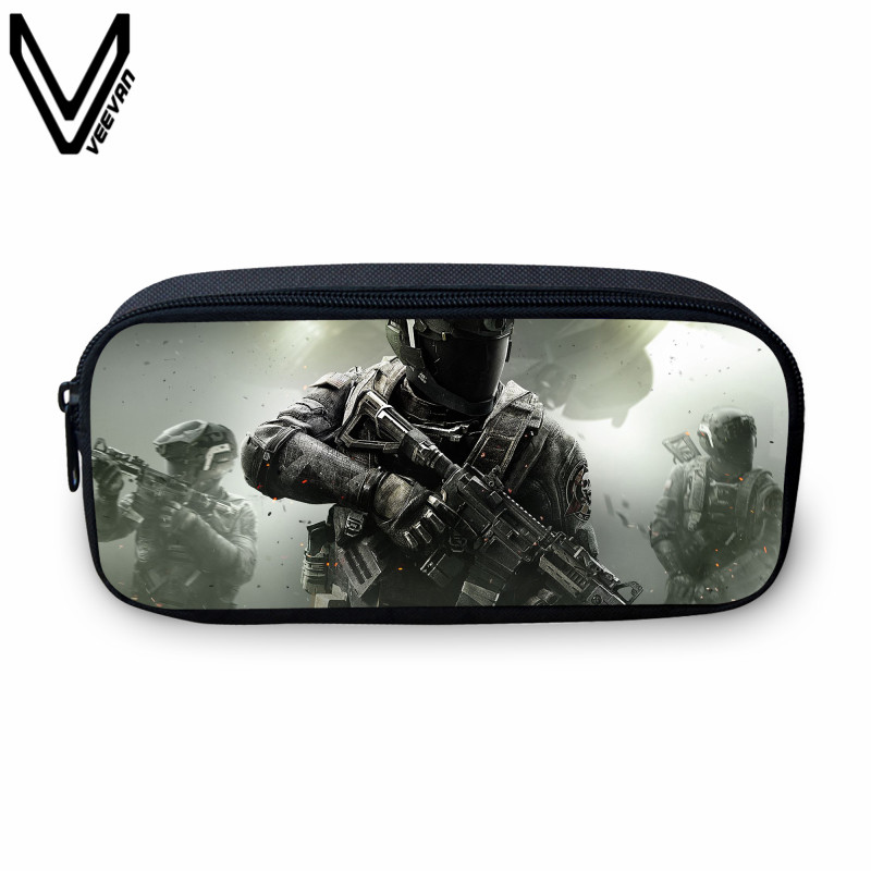 VEEVANV Hot Sale Call of Duty Children Wallet Case 3D Battlefield Printing Wallet Casual Cartoon Wallet For Girls Zipper Case