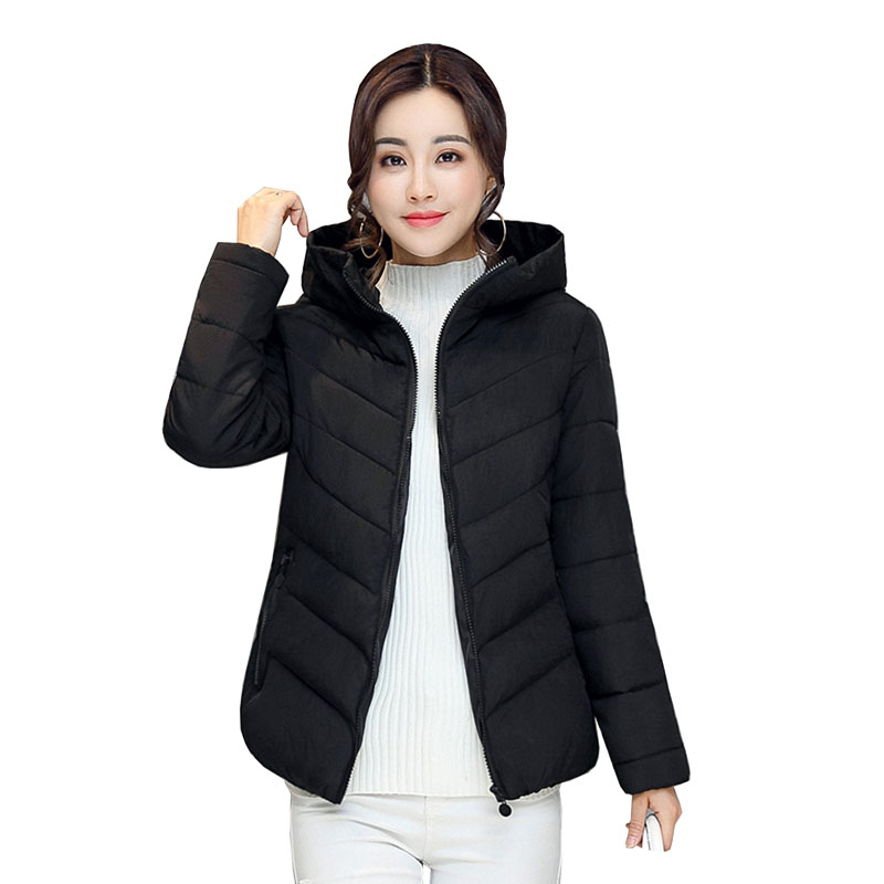 2017 new women winter jacket casual solid outerwear coat with hooded parka cotton-padded Fashion Women Short Padded Parka 4L70  olgitum 2017 women vest jackets new fashion thickening solid casual cotton fashion hooded outerwear
