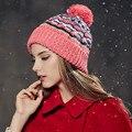 Kenmont Autumn Winter Women Girl Lady Wool Crochet Hand Knit Jacquard Beanie  Hat Cap 1556 b9a1b4bb53a1