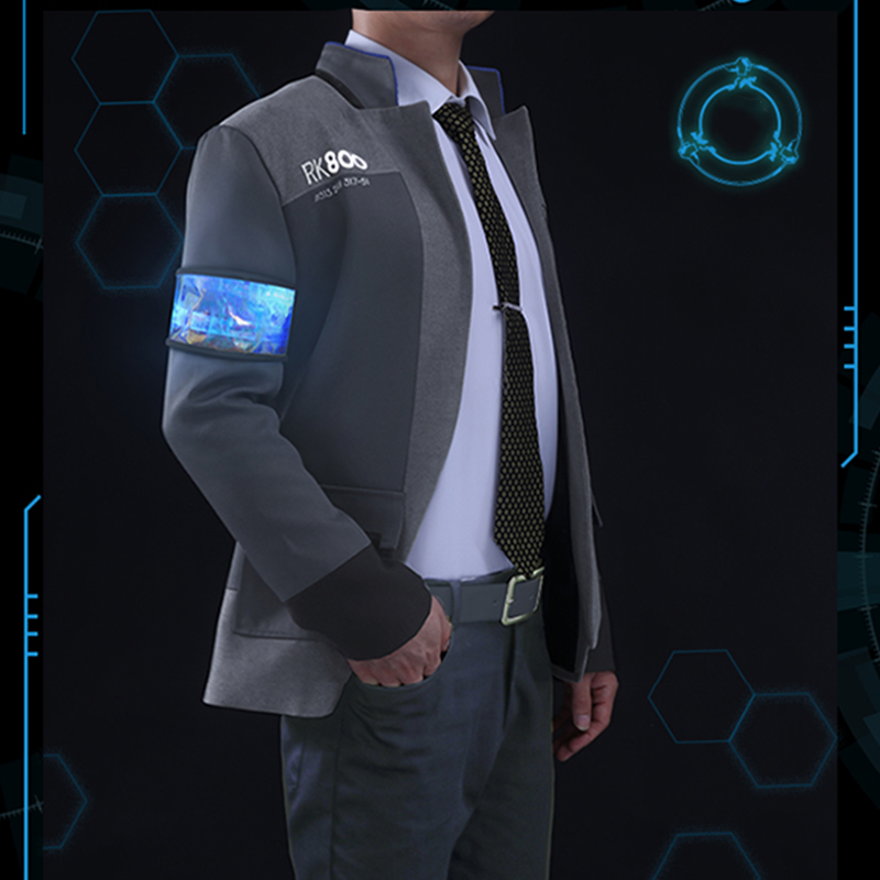 fbbf417aa Detroit: Become Human Connor RK800 LED Upgrade Cosplay Costume for  Halloween Jacket Full Set
