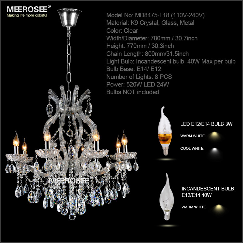 8 light crystal chandelier light fixture maria theresa led crystal 8 light crystal chandelier light fixture maria theresa led crystal luster lamp for lobby stair hallway project md8475 in chandeliers from lights lighting aloadofball Choice Image