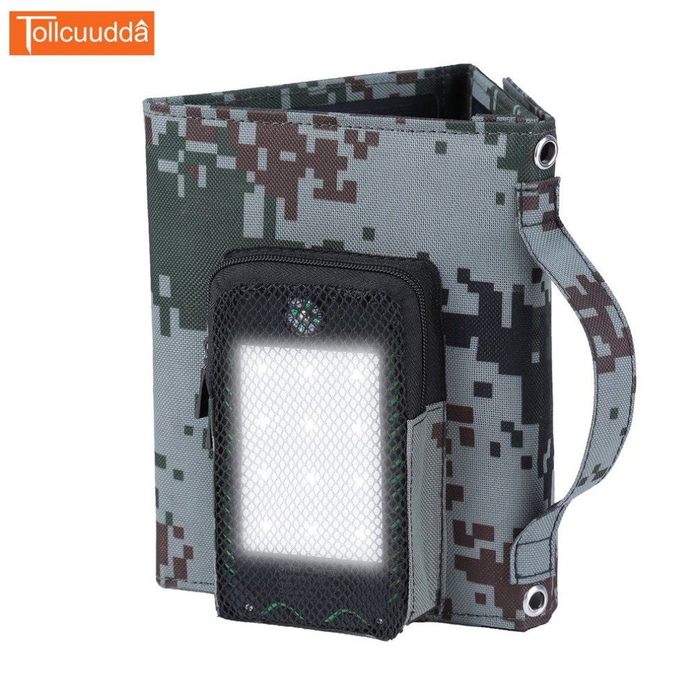 Tollcuudda ZDMC 5V Foldable Solar Panels Solar Power Bank Portable External <font><b>Battery</b></font> Charger For <font><b>Cellphone</b></font> Tablet Mobile Phone