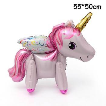 1PC 100*97CM Pink Horse Little Pony Unicorn Foil Balloons Helium Balloon Kids Toys Wedding Birthday Animal Party Decor Supplies 32