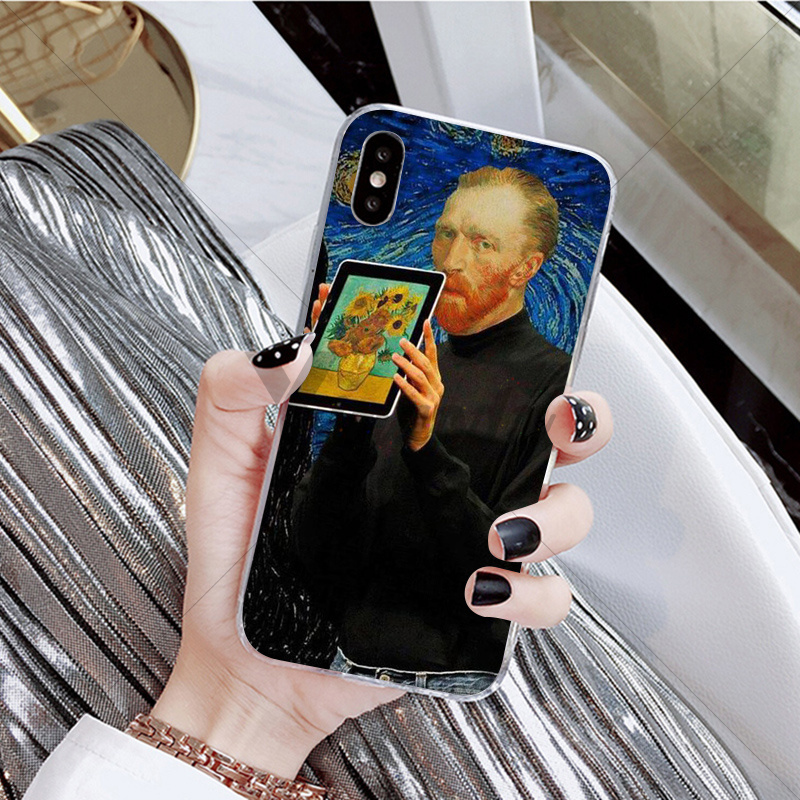 Yinuoda Mona lisa Mathilda Natalie Portman Kuso TPU Soft Silicone Phone Case for Apple iPhone X XS MAX 8 7 6 6S Plus 5 5S SE XR in Half wrapped Cases from Cellphones Telecommunications
