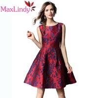 Maxlindy 2018 Neue Frauen Vintage Inspirierte A-Line Kleid Schlank Vestidos Casual Kleid Robe