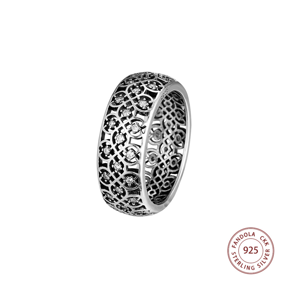 CKK Decorative Ring 925 Sterling Silver Wedding Original Rings for women Jewelry anillos mujer