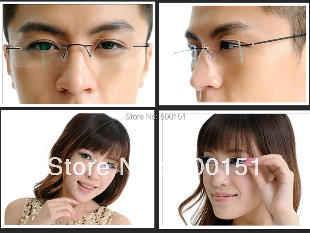 best sell flexible rimless non screw 6g eyeglasses frame prescription lenses pure b titanium
