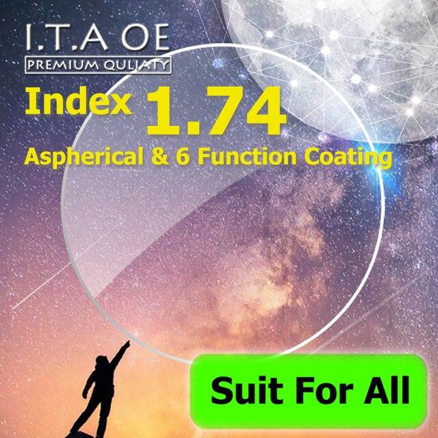 1.74 Индекс Высочайшее Качество Асферические Рецепт Оптический Близорукость Дальнозоркость Линзы Очки Для Очков Очки и 6 Функция Покрытие