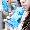 Alimentação do bebê garrafa de plástico sippy cup alça de palha automático não-slip de defesa queda anti flatulência 350 ml