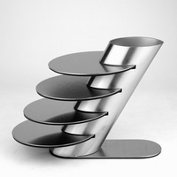 Fashion Stainless Steel Coaster Cup Holder 5 Piece Set Table Mat Heat Insulation Pad Bowl Pad