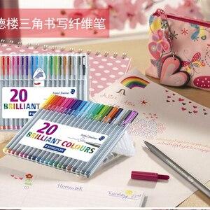 Image 5 - Lifemaster Staedtler Triplus Fineliner Vilt Tip Tekening Pen Art Marker 0.3 Mm Multi Color 334SB