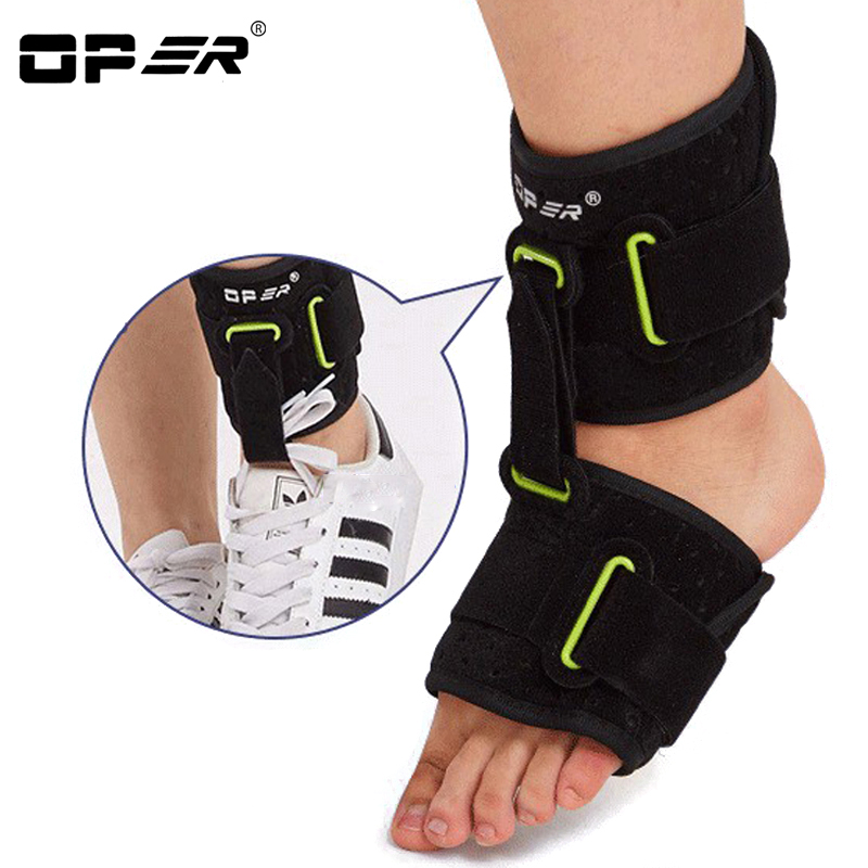 OPER Ankle drop foot brace Orthosis Adjustable Support Foot Arch Shock Absorber Bandage Equipment Plantar Fasciitis Footrest