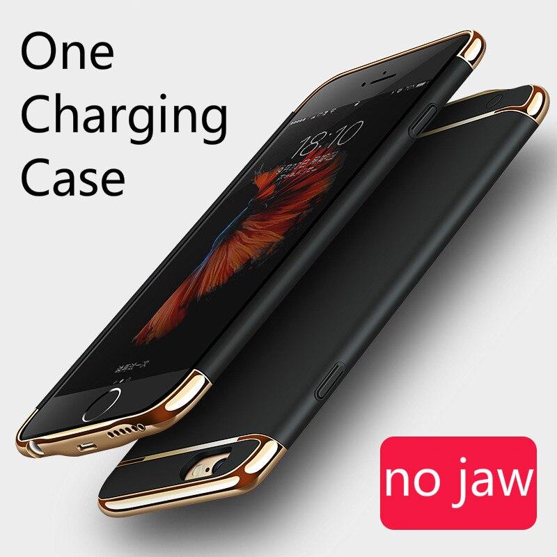Цена за Великолепная Резервное копирование Внешняя Батарея Зарядное устройство чехол для iPhone 6 6S 6 Plus 6S плюс Портативный резервного копирования Мощность Bank чехол без Чин челюсти