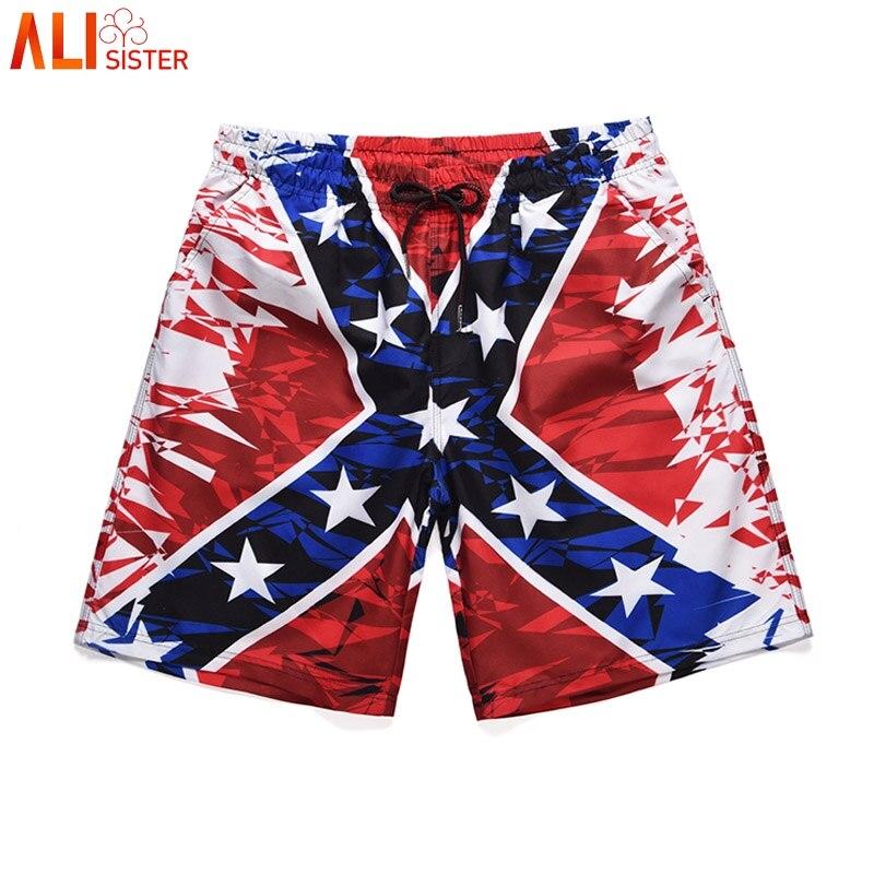 Alisister 2019 New Hot 3d Beach Shorts Men Summer Quick Dry Comfortable Beachwear Homme Couple Casual Board Short Sportwear
