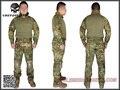 Emersongear Gen2 Combate Shirt & Calças com joelheiras cotovelo Airsoft Tactical Gear Caça BDU Uniforme Teflon EM6978 Greenzone GZ