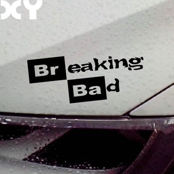 Breaking Bad Walt White Cook Sticker Vinyl Car Window Decal / Reflective Silver image