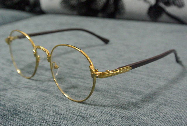 76f8e3e911 Vintage Oval Eyeglass Frame Man Women Plain Glass Clear Full Rim Spectacles