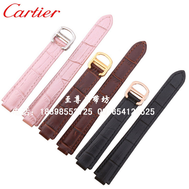 20mm (terminal de 12mm) correas para relojes de pulsera de marca 14mm (lug 8mm) 18mm (terminal de 11mm) Venda de reloj Negro Marrón rosa relojes Grano Cocodrilo