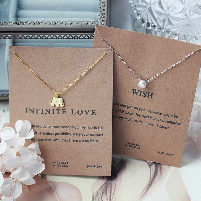 26 Styles Fashion Jewelry Women Pendants Cat Ear Angel Wings Bird Animal Circle Geometric Charm Clavicle Chains Collar