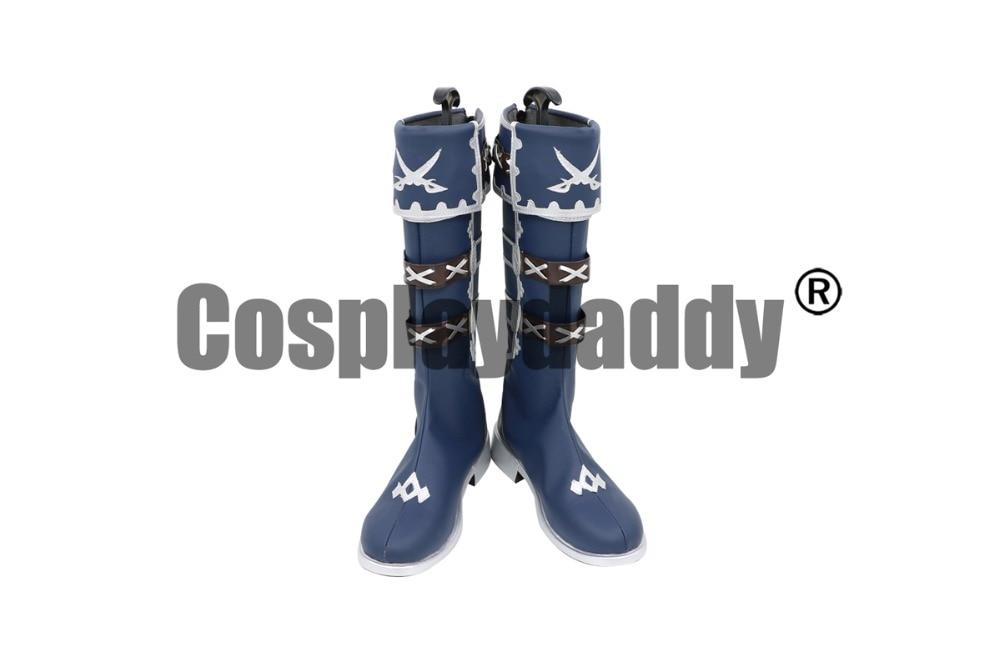 Art de l'épée en ligne: Defrag mémoire Yuuki Asuna Pirate Ver. Cosplay chaussures bottes C006