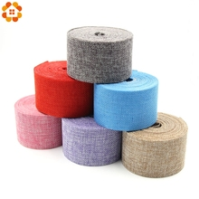 1Roll 5CM*10M Jute Burlap Rolls Hessian Ribbon Lace Rustic Vintage DIY Ornament Home Wedding Birthday Party Decoration