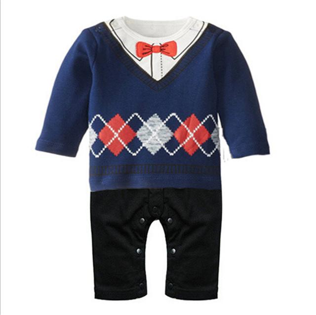 Baby Boy Gentleman Rompers