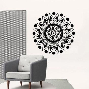 Delicate mandala Vinyl Wall Sticker Home Decor Stikers Living Room Children Room Sticker Mural naklejki na sciane