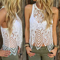 New Sexy Women Summer Lace Crochet Vest Tank Tops Casual Sleeveless Blouse Shirt