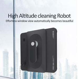 BOBOT روبوت زجاج النافذة الأنظف فرملس الروبوتية مُنظف نوافذ عالية شفط 2500pa مكافحة اسقاط نافذة غسل روبوت