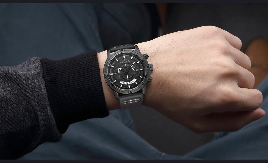 Topdudes.com - Multifunctional Sports Fashion Quartz Chronograph Wrist Watch