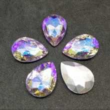 Cristal violeta AB DR cristal costura diamantes de imitación punto de fondo DIY vestido de boda y Bolsa 6*8 7*10 10*14 13*18 18*25 20*30