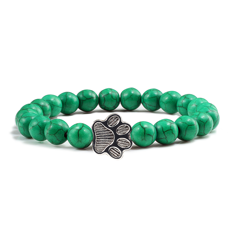 dark green beads