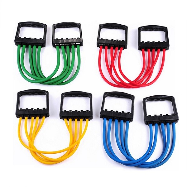 Portable Indoor sports Men Chest Expander Puller Exercise Fitness Resistance Cable Rope Tube Yoga 5 Resistance Bands