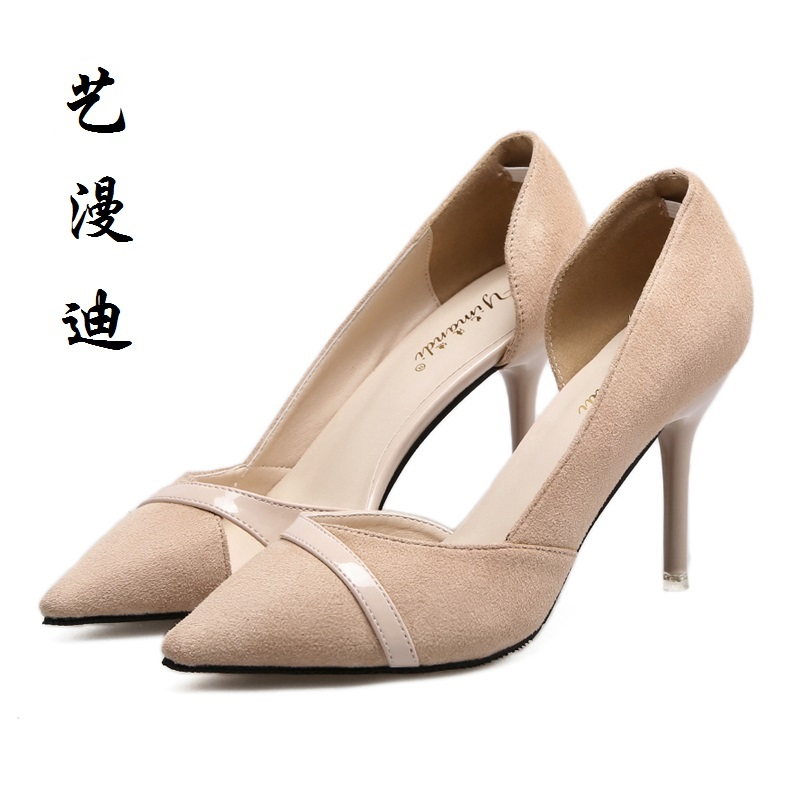 2017 Small Size 31-43 Apricot Sexy Pointed Toe High Heels Women Pumps Ladies Office Shoes Woman Chaussure Femme Talon 32 33 34