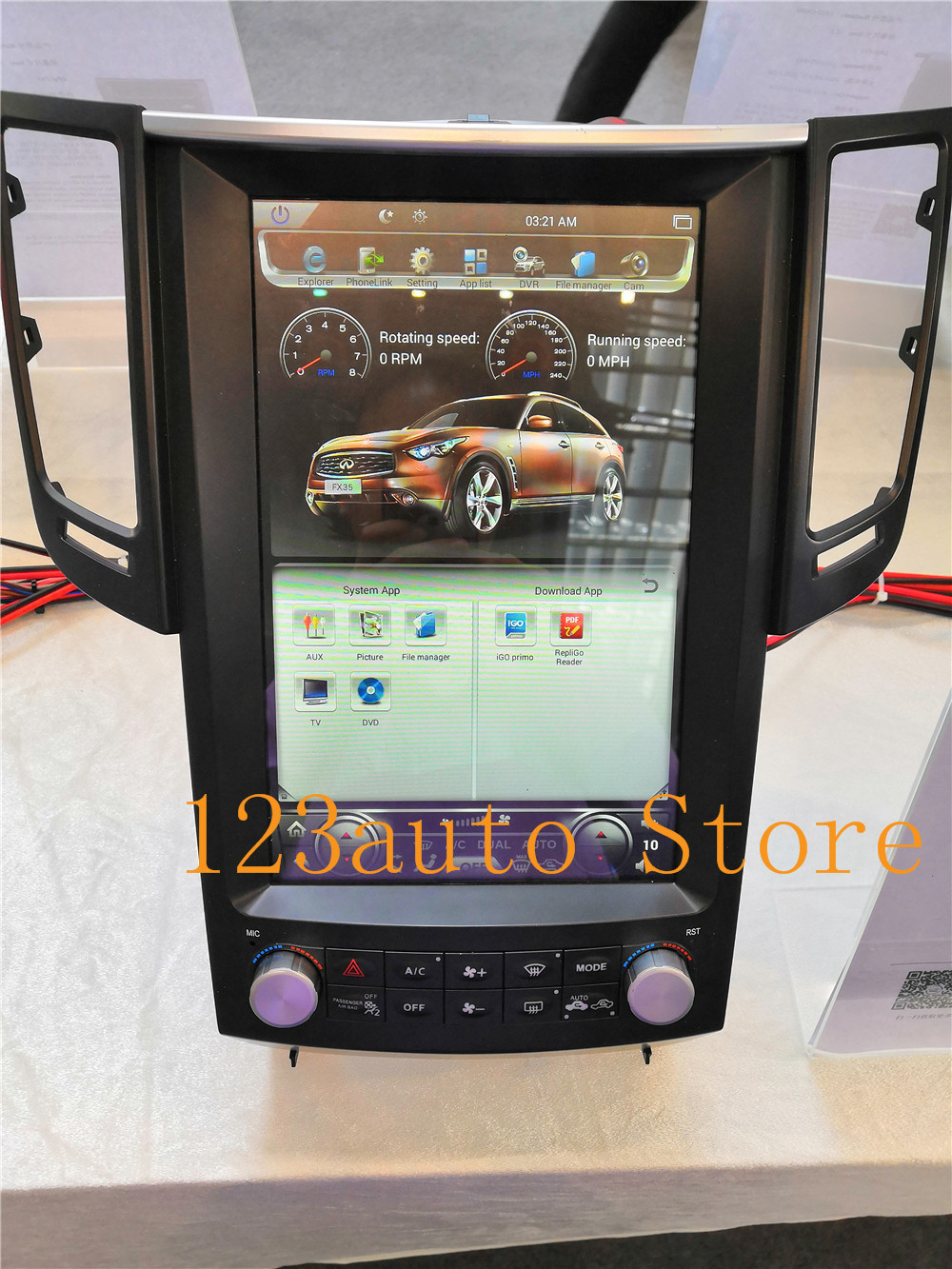 Autocardvdgps 12.1'' tesla style android 8.1 auto car dvd gps player for infiniti fx fx25  fx35 fx37 qx70 multimedia navigation stereo px6