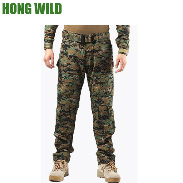 Camouflage military pants men trousers us tactical army pants camo cargo  pants mens baggy cargo pants with knee pads