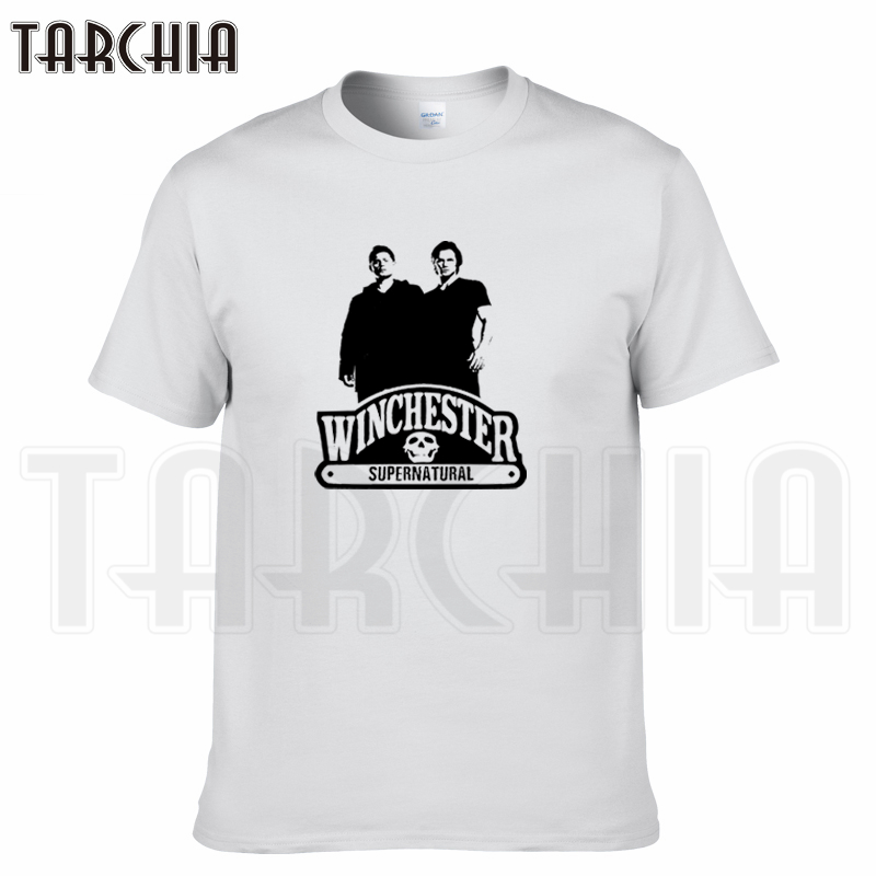 TARCHIA 2018 summer TV series supernatural winchester t-shirt cotton tops tees men short sleeve boy casual homme tshirt t plus