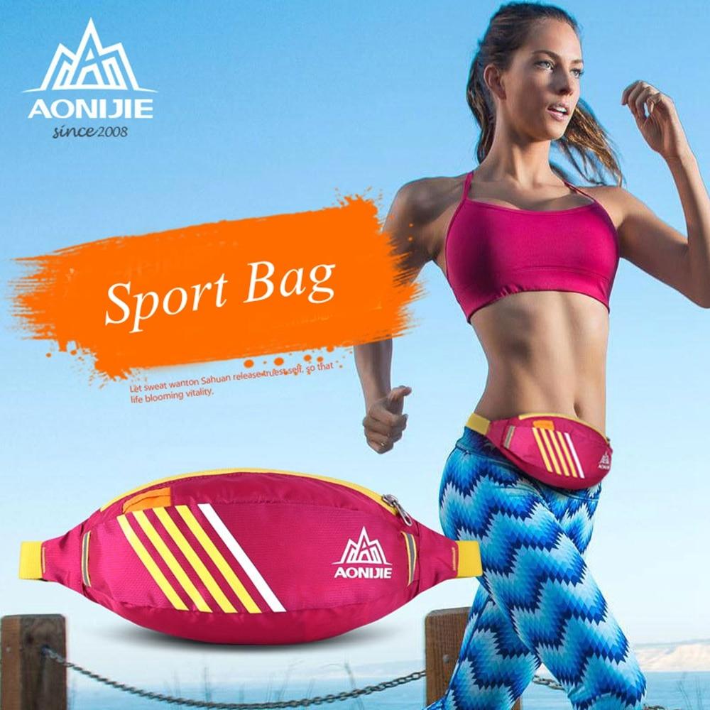 AONIJIE 2016 New Running 허리 가방 가벼운 내수성 나일론 스포츠 벨트 팩, 하이킹 사이클링, 5 색