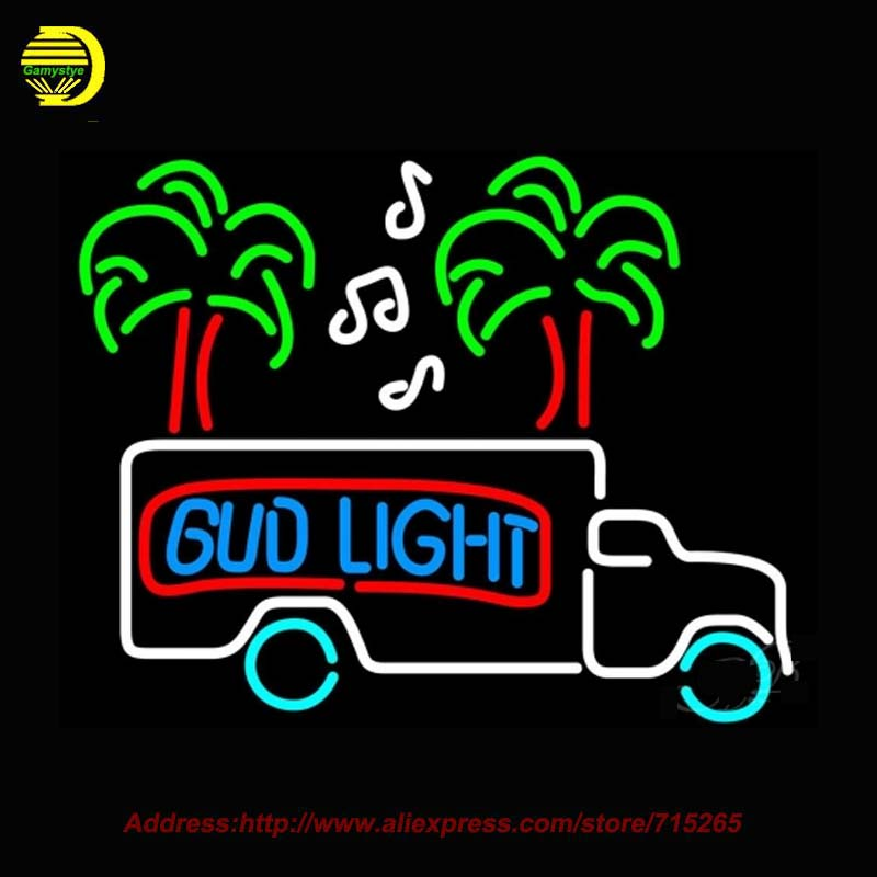 Bud <font><b>Light</b></font> Magic Truck <font><b>Light</b></font> NEON SIGN Bright Handcrafted Decorate Room Window Neon Bulb Glass Tube Affiche Indoor Neon VD 30x22