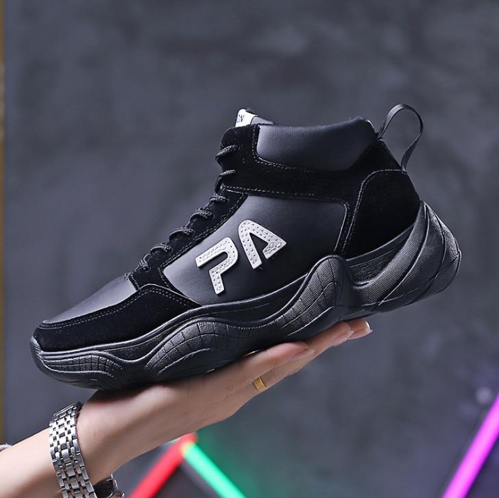 Hop Nouveau gris Top Zll658 forme Noir Étanche Street 2019 Dance Plate Chaussures Hip blanc High Mode Huanqiu Hommes Tendance De Sneakers Automne R56wCCBxq