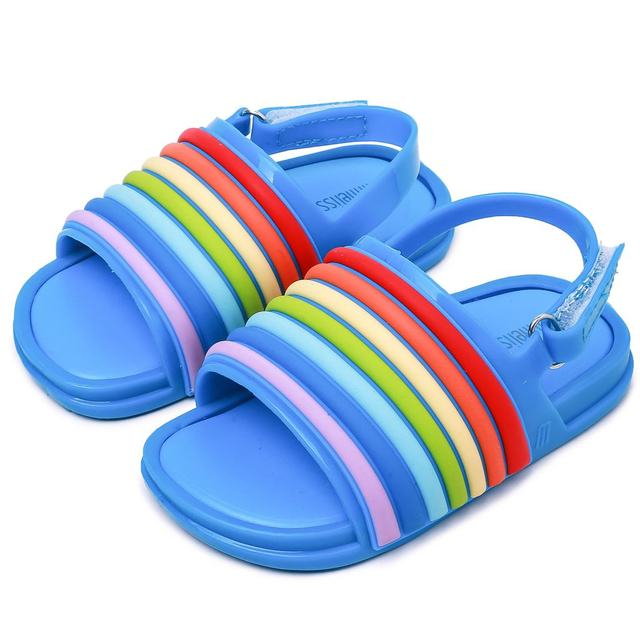 Melissa Mini Rainbow Strip Baby Jelly Sandals 2018 New Summer Shoes Jelly  Shoe Girl Non slip Mini Melissa Kids Sandal Toddler-in Sandals from Mother    Kids ... 8109c50e7ff9