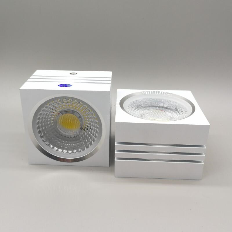 Surface Mounted 10W 15W Dimmable COB Led Ceiling Down Light without opening Square spot lamp 85-265V