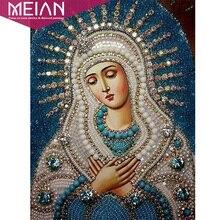 Meian, полный 5d Diy Алмазная вышивка крестиком религиозные иконы лидеры Алмазная мозаика религиозная Мужская Алмазная вышивка Стразы