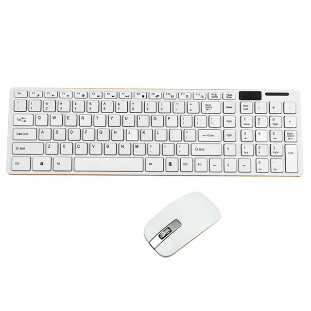 6f255ac6085 Reliable 2.4G wireless keyboard Slim White Wireless 2.4GHz Gaming Keyboard  and Mouse Combo Set