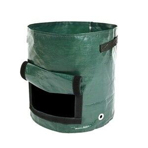 Image 3 - Plante végétale cultiver sac bricolage pomme de terre cultiver planteur PE tissu tomate plantation conteneur sac épaissir jardin Pot fournitures de jardin