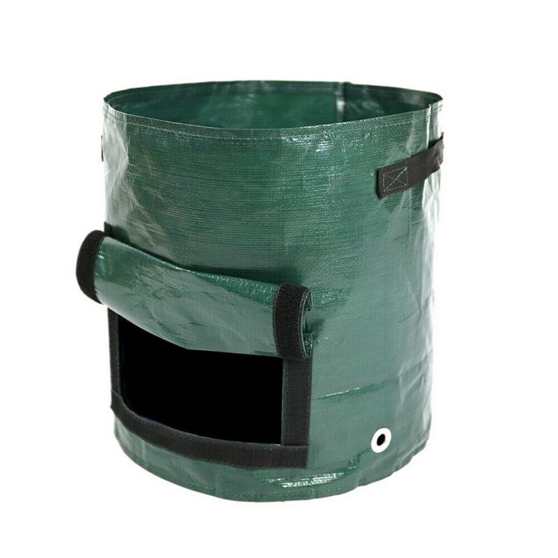 Image 3 - Vegetable Plant Grow Bag DIY Potato Grow Planter PE Cloth Tomato Planting Container Bag Thicken Garden Pot Garden Supplies-in Grow Bags from Home & Garden