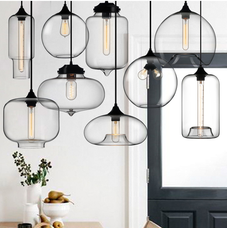 Phube Lighting Modern Glass Pendant Light Bar Restaurant Living Room Pendant Light Lighting Included Edison Bulbs phube lighting modern pendant light black white green grey pendant light bar restaurant living room lighting